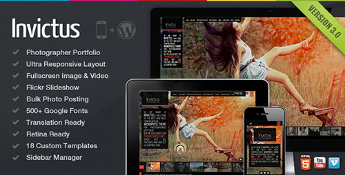 ThemeForest - Invictus v3.0.21 - A Premium Photographer Portfolio Theme