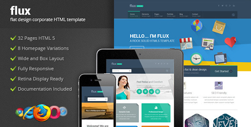 ThemeForest - Flux - Flat Corporate HTML Template 2 - RIP