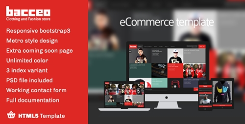 ThemeForest - Bacceo metro style eCommerce template - RIP
