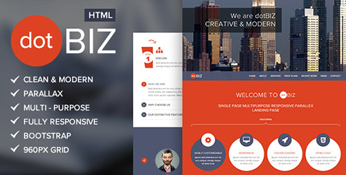 ThemeForest - dotBIZ | Multi-Purpose Parallax Landing Page - RIP