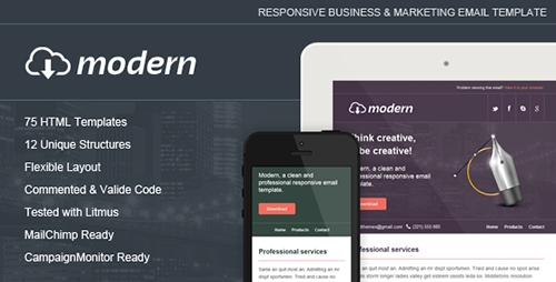 ThemeForest - Modern - Responsive Email Template - RIP