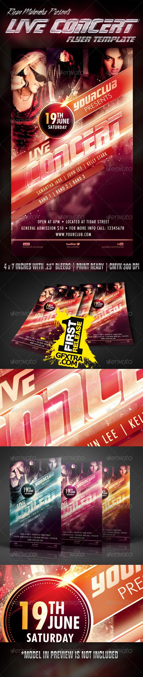 GraphicRiver - Live Concert Flyer Template