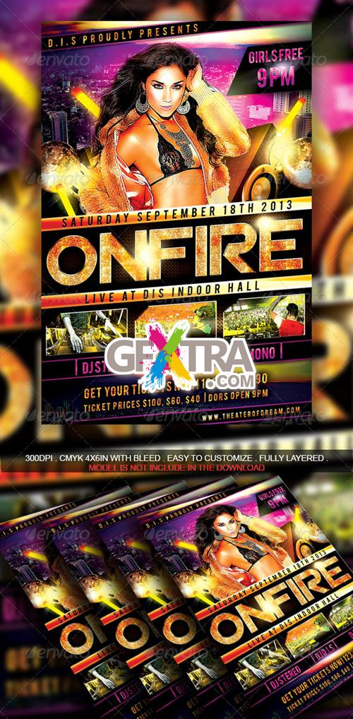 GraphicRiver - On Fire Party Flyer