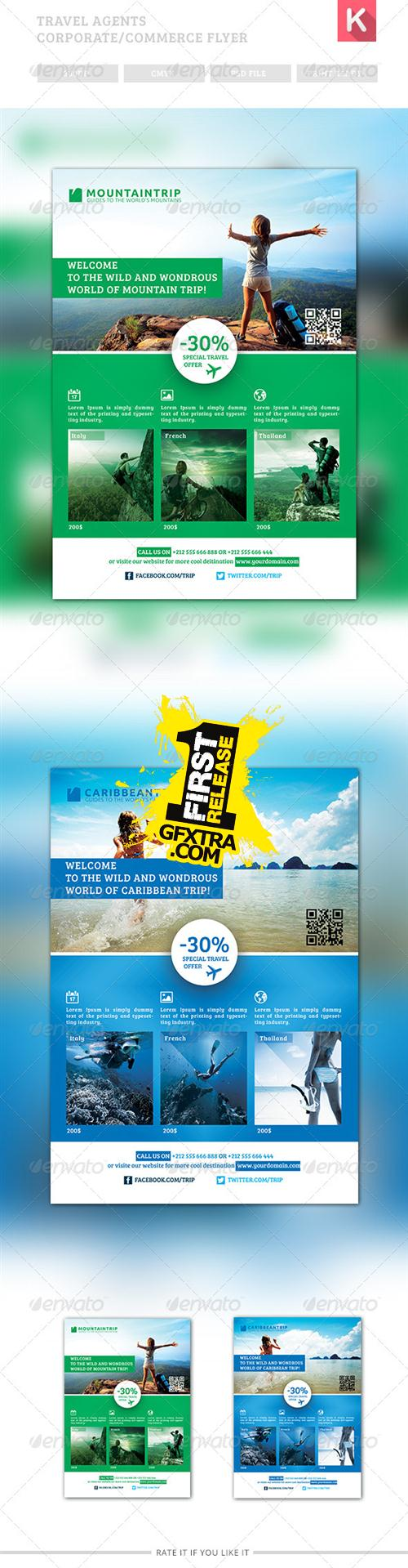 GraphicRiver - Travel Agents Corporate / Commerce Flyer