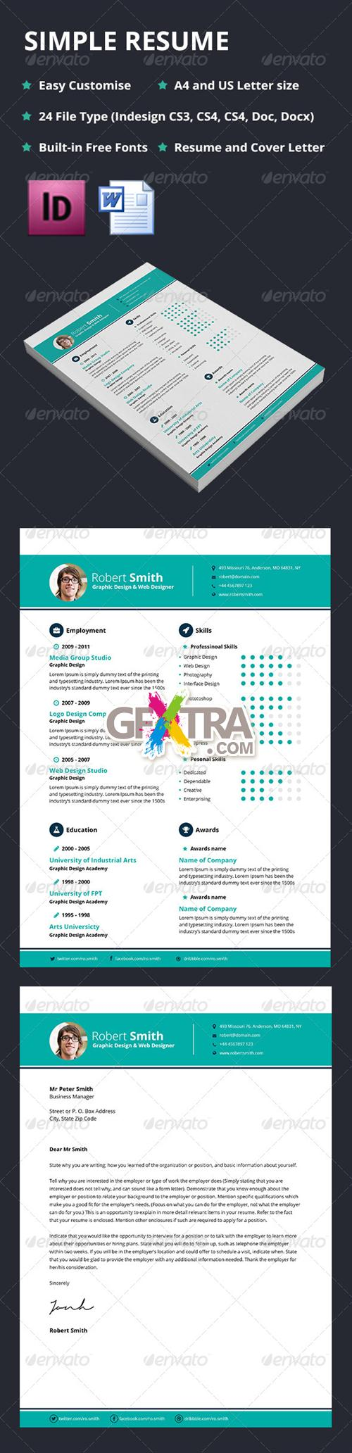 GraphicRiver - Simple Resume