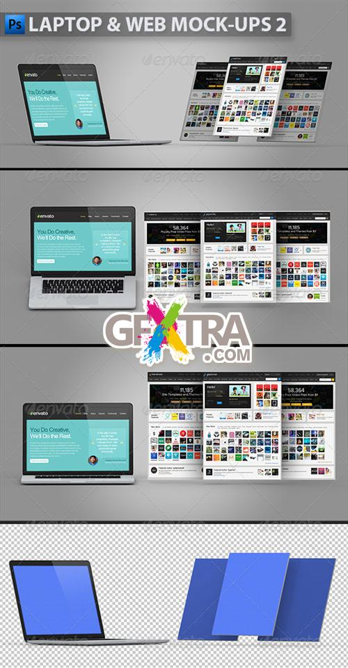 GraphicRiver - Laptop and Web Mock-ups 2