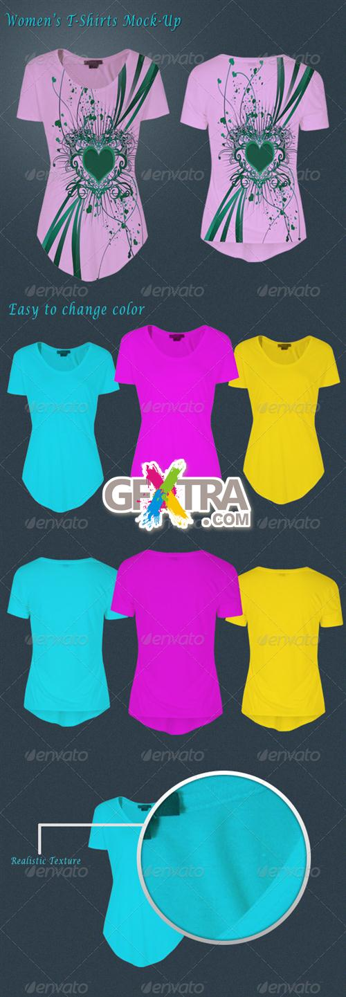 GraphicRiver - Women's T-Shirt Mockup