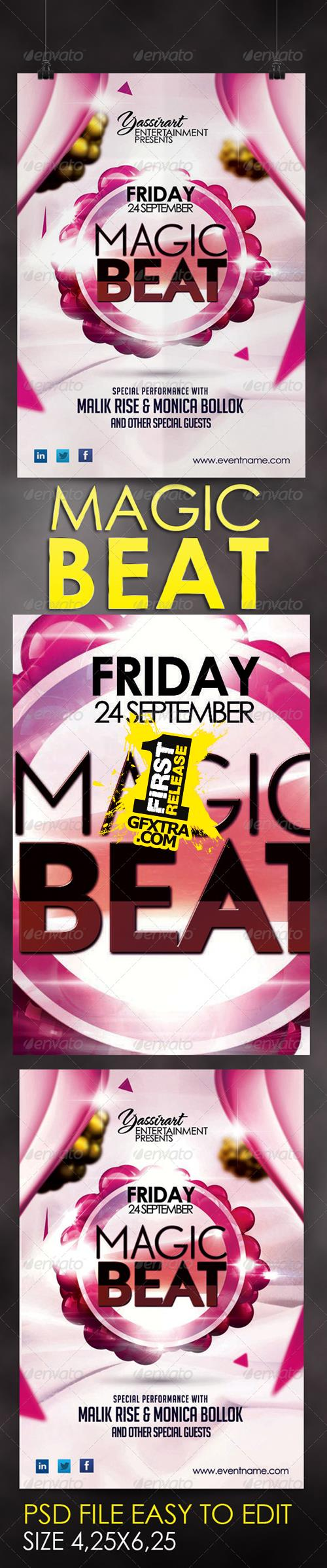 GraphicRiver - Magic Beat Flyer Template