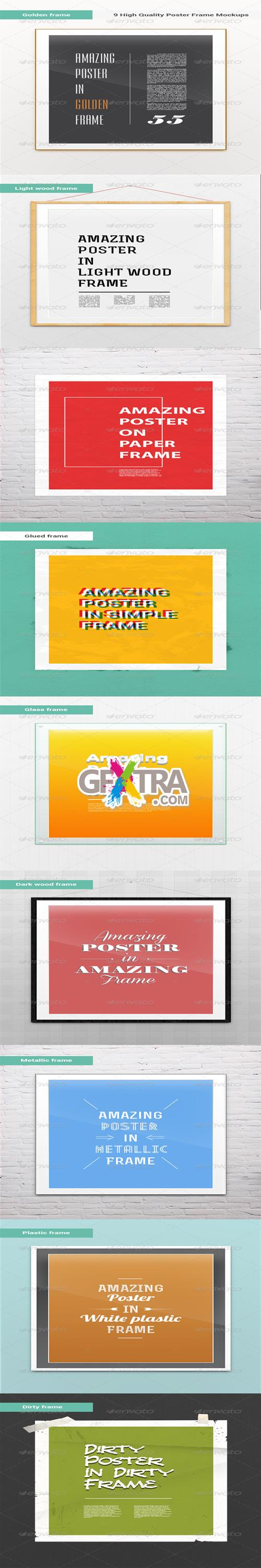 GraphicRiver - 9 High Quality Picture/Poster Frame Mock-Ups