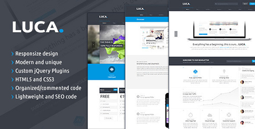 ThemeForest - LUCA - Responsive HTML5 Template - RIP