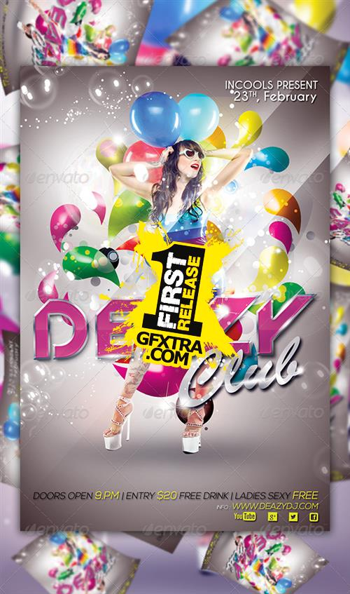 GraphicRiver - Deazy Club Flyer Template