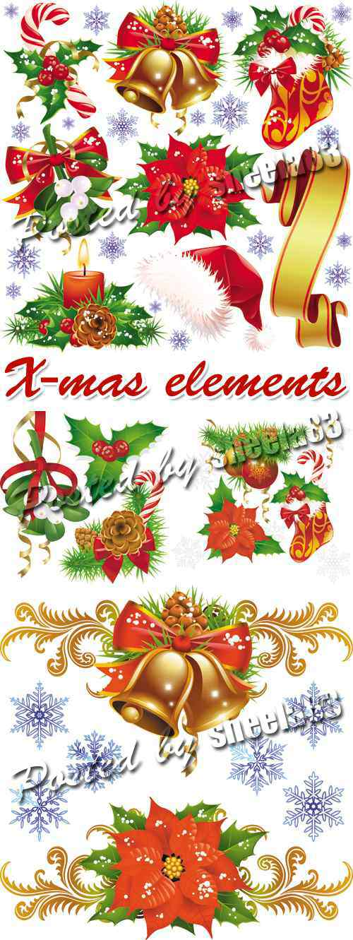 Christmas Elements Vector 3