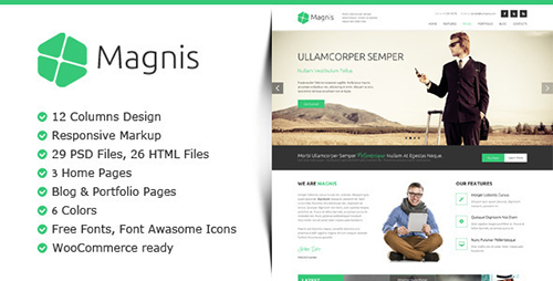 ThemeForest - Magnis - Multipurpose HTML Template - RIP