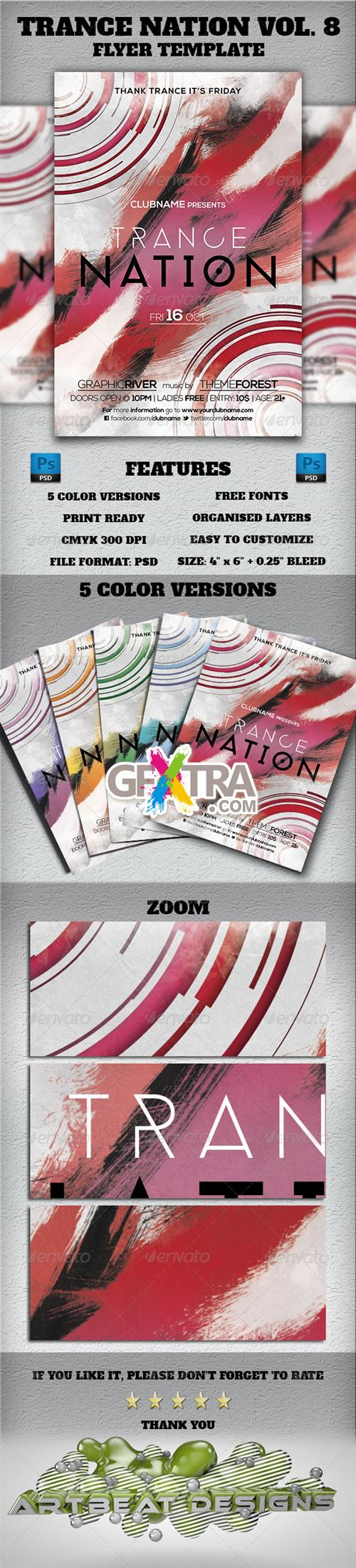 GraphicRiver - Trance Nation Vol. 8 Flyer Template