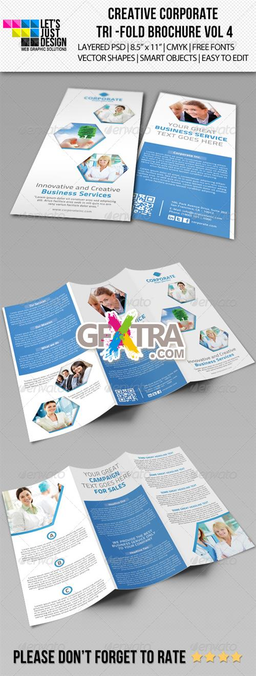 GraphicRiver - Creative Corporate Tri-Fold Brochure Vol 4
