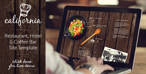 ThemeForest - California - Restaurant Hotel Coffee Bar Website - RIP