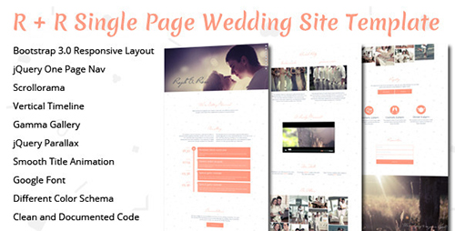 ThemeForest - R+R Wedding Landing Page Template - RIP