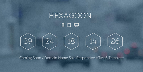 ThemeForest - Hexagoon - Coming Soon / Domain Name Sale Template - RIP