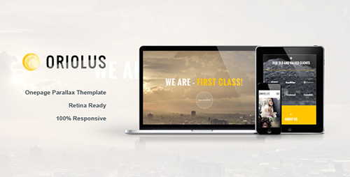 ThemeForest - Oriolus - One Page Template - RIP