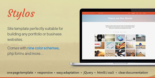 ThemeForest - Stylos - Responsive One Page Template - RIP