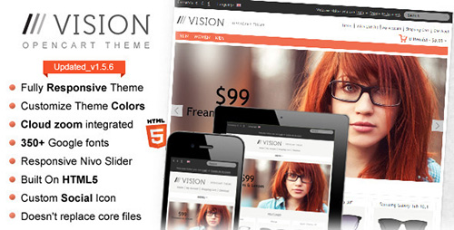 ThemeForest - Vision (Update: 3 August 2013) - Responsive OpenCart Theme
