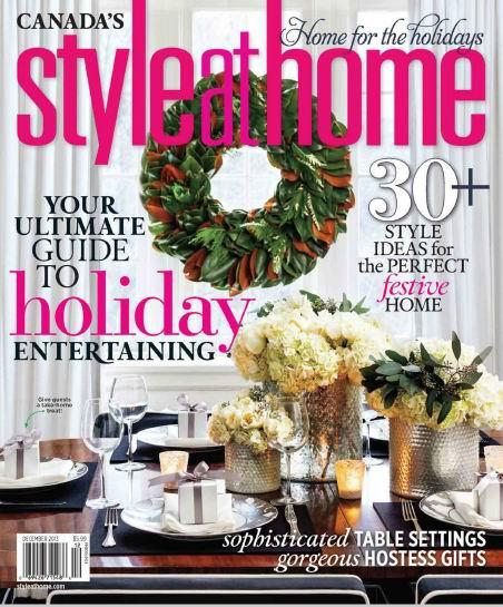 Style at Home Magazine December 2013