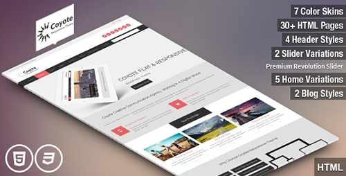 ThemeForest - Coyote - Responsive Business HTML5 Template - RIP