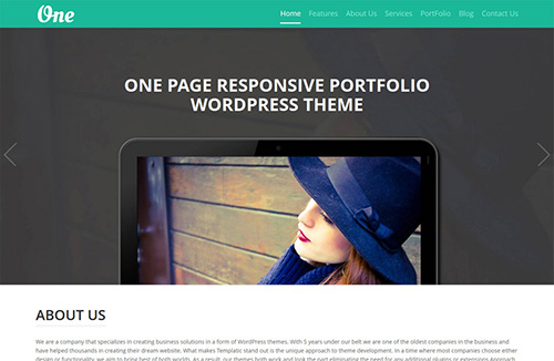 Templatic - OnePager v1.0 - Theme for WordPress