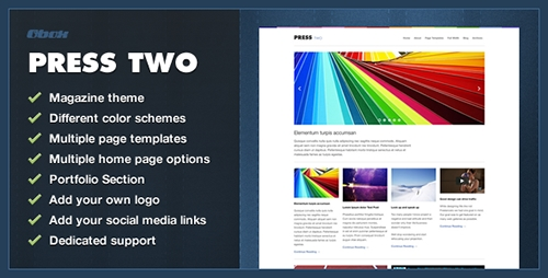 ThemeForest - Press Two v1.4.6 - WordPress Magazine Theme