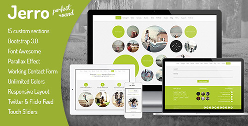 ThemeForest - Jerro - Responsive One Page Round Template - RIP