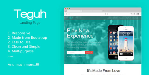 ThemeForest - Teguh - Easy to Use Responsive Landing Page - RIP