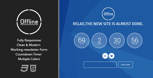 ThemeForest - Offline - Animated Under Construction Page - RIP