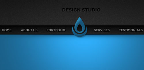 Sleek Blue Portfolio Website Header PSD Template » Vector, Photoshop ...