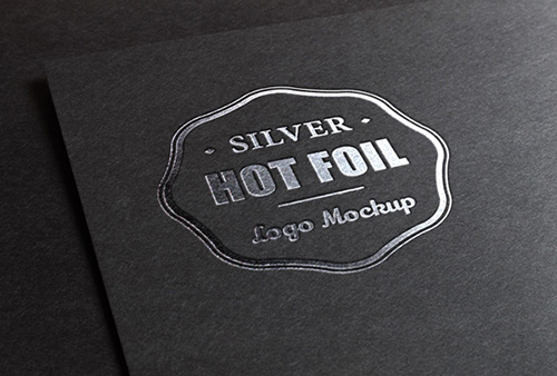 PSD Source - Silver Stamping Logo MockUp