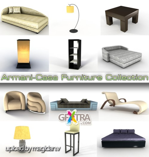 3D models of Armani/Casa Furniture