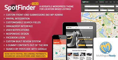 ThemeForest - SpotFinder v1.35.5 - Versatile Directory & Listings Theme
