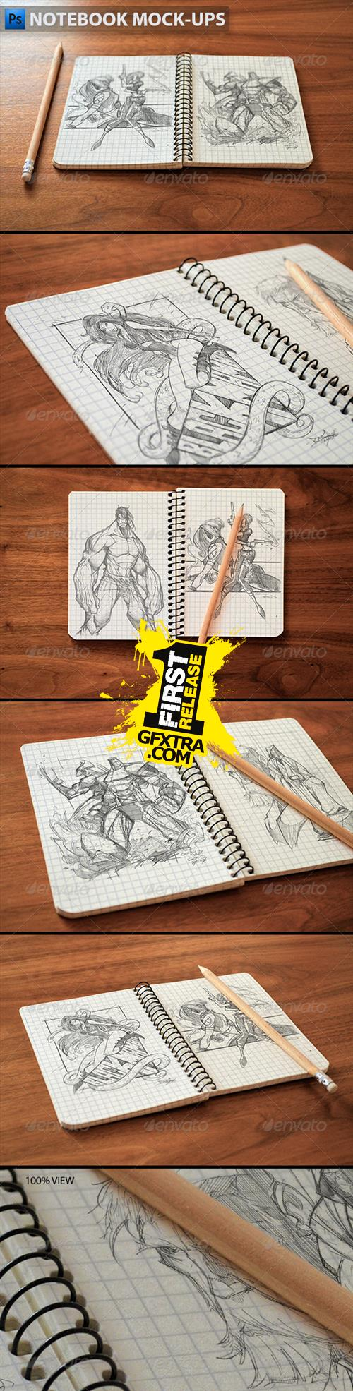 GraphicRiver - Notebook Mock-Ups