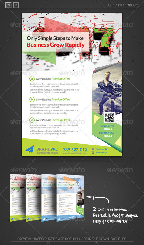Fresh Active Multipurpose Corporate Flyer Template