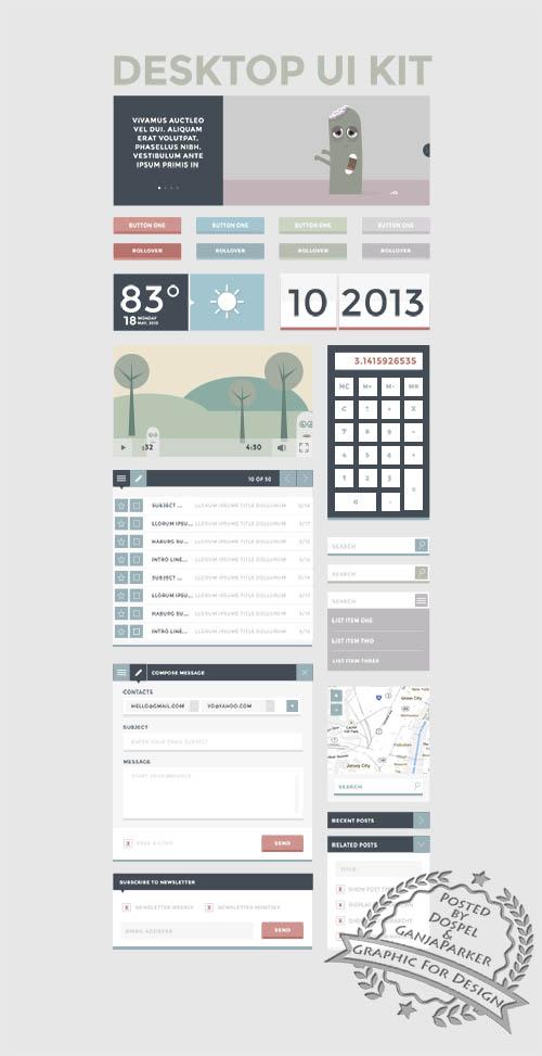 PSD Web Design - Deskop Ui Kit - October 2013