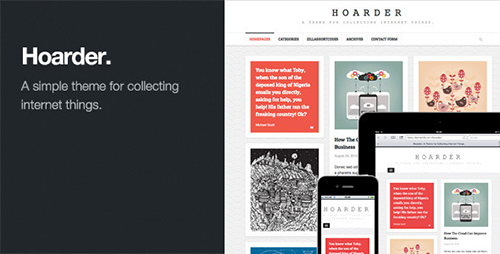 ThemeForest - Hoarder v1.2 - Responsive WordPress Blog Theme