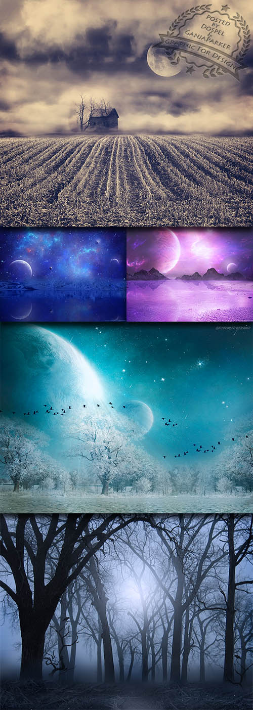 Backgrounds - Moonlit Night 2013