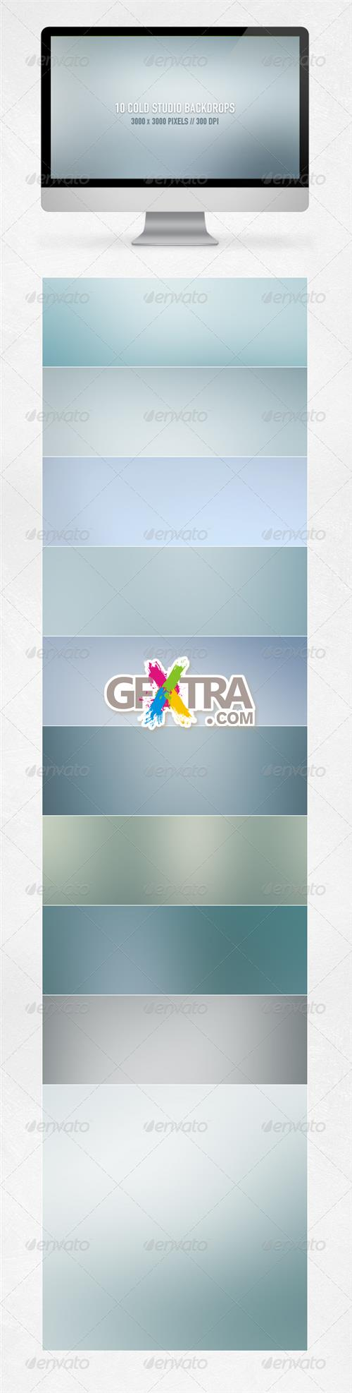 GraphicRiver - Cold Studio Backdrops