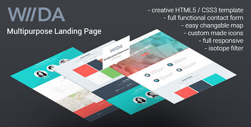 ThemeForest - WDA - Creative Responsive Landing Page - RIP