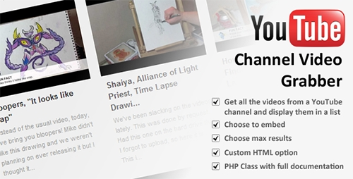 CodeCanyon - YouTube Channel Video Grabber