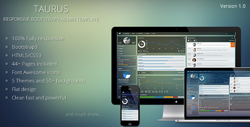 ThemeForest - Taurus - Responsive Bootstrap3 Admin Template - RIP