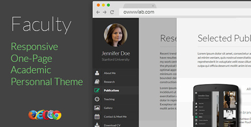 ThemeForest - Faculty - Responsive Academic Personal Profile - RIP
