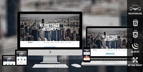 ThemeForest - Avano One Page Responsive Template - RIP