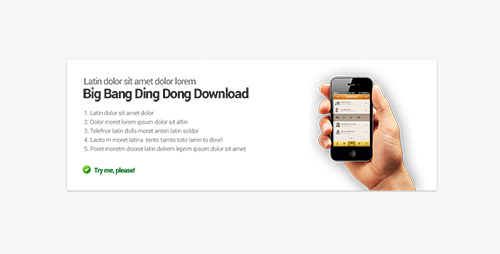 PSD Web Design - Block for app about