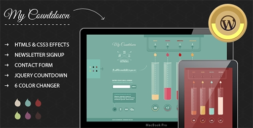 ThemeForest - MyCountdown v1.0 - WordPress Coming Soon Page