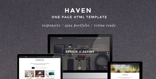 ThemeForest - Haven - Elegant One Page Responsive Template - RIP